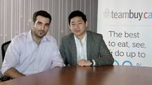 TeamBuy's chief executive officer, Ghassan Halazon, left, and president Edward Yao (JEFF TSENG/COURTESY OF TEAMBUY)