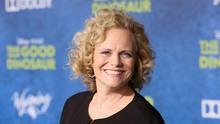 Meg LeFauve was a screenwriter on not two films nominated for the coming Golden Globe Awards – Inside Out and The Good Dinosaur – and they're up against each other in the same category. (Jesse Grant/Getty Images)