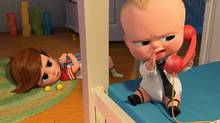 The totally stupid plot of Boss Baby, which features the voice of Alec Baldwin as a management executive who looks like an infant, is its saving grace. It's a rare cartoon that actually feels like a cartoon. (DreamWorks Animation)