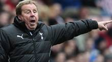 Tottenham Hotspur manager Harry Redknapp gestures during their English Premier League soccer match against Sunderland at the Stadium of Light in Sunderland, England April 7, 2012. REUTERS/David Moir (David Moir/Reuters)