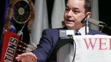 Assembly of First Nations national Chief Shawn Atleo addresses the Special Chiefs Assembly at the conclusion of its conference in Gatineau, Que., Dec. 6, 2012. (FRED CHARTRAND/THE CANADIAN PRESS)