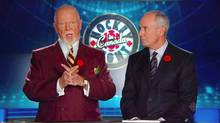 Don Cherry, left, and Ron MacLean.