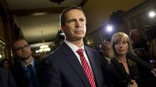 Former Premier Dalton McGuinty leaves a justice policy committee meeting at Queen's Park in Toronto. (Kevin Van Paassen/The Globe and Mail)