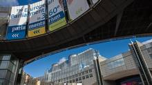The European Parliament in Brussels, Friday, Oct. 12, 2012. (Geert Vanden Wijngaert/AP)