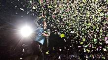 Chris Martin, lead singer of Coldplay, performing in Edmonton in April. (JASON FRANSON/THE CANADIAN PRESS)