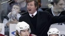 Former Phoenix Coyotes coach Wayne Gretzky yells at a referee. (Gene J. Puskar)