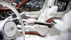 Interior of the Bentley all-wheel-drive EXP 9 F prototype.