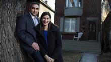Adam Walman and Aviva Levy outside their home. 'We were rookies,' Ms. Levy says of their house-hunting exploits. (Michelle Siu/The Globe and Mail)