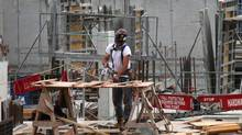 File photo of construction work being done on a condominium site in Toronto in 2012. (Deborah Baic/Deborah Baic/The Globe and Mail)