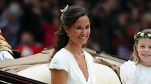 This file photo taken on April 29, 2011, shows Pippa Middleton after the wedding service for Britain's Prince William and Kate, Duchess of Cambridge. (PAUL ELLIS/AFP/Getty Images)