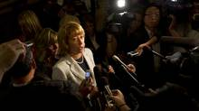 Ontario Education Minister Laurel Broten speaks to media at Queen's Park in Toronto, Tuesday September 11/2012. (Photo by Kevin Van Paassen/The Globe and Mail) (Kevin Van Paassen/The Globe and Mail)