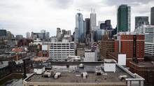 The Toronto skyline. A new study says Canada's commercial real estate sector contributed $63.3-billion to the economy last year. (Della Rollins F