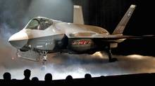 The Lockheed Martin Joint Strike Fighter is shown after it was unveiled in a ceremony in Fort Worth, Texas, in this July 7, 2006, file photo. (The Canadian Press)