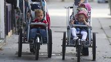 In Toronto, the public has been galvanized by a public complaint at a Toronto Transit Commission meeting about the number of baby strollers being allowed on buses. (Kevin Van Paassen/The Globe and Mail)