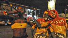 Ghana Black Stars fans cheer after their team beat the U.S. 2-1 on June 26 at the World Cup in South Africa. (SIA KAMBOU/Sia Kambou/AFP/Getty Images)