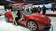Giugiaro Brivido hybrid coupe concept (Martial Trezzini/AP)