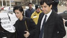 Jian Ghomeshi arrives at a Toronto courthouse with his lawyer Marie Henein for the third day of his trial on Feb. 4. (Frank Gunn/THE CANADIAN PRESS)