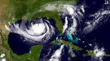Tropical Storm Isaac is seen in the Gulf of Mexico in this NOAA handout satellite image released on August 28, 2012. (HANDOUT/REUTERS)