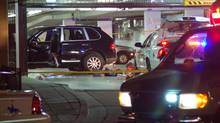 Police have issued a warning to anyone associated with the Duhre or Dhak groups that they could be in danger from gang violence. Seen here is a 2009 crime scene of a B.C. gangland shooting.