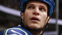 Kevin Bieksa #3 of the Vancouver Canucks. (Photo by Jeff Vinnick/NHLI via Getty Images) (Jeff Vinnick/Getty Images)