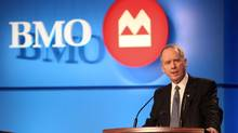 BMO president and CEO Bill Downe takes the podium at the bank's annual general meeting in Halifax, March 20. BMO kicks off second-quarter bank earnings' reports on Wednesday. (Eric Wynne/The Canadian Press/Eric Wynne/The Canadian Press)