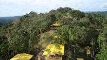 Aerial Sight of Petaquilla Copper Ltd.'s Colina Campsite in Panama. (Luigi Jimenez.)