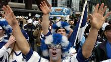 Leafs Nation at Game 7 against the Ottawa Senators at the Air Canada Centre, April 20, 2004. (Louie Palu/The Globe and Mail)