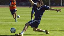 Steve Nash of the NBA's Phoenix Suns practices with the Vancouver Whitecaps FC of the MLS, in Burnaby on Tuesday. (ANDY CLARK/Reuters)