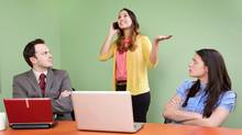Taking calls during meetings is not a good way to win friends and influence people. (iSTOCKPHOTO/iSTOCKPHOTO)