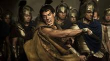 "Henry Cavill fights alone in a scene from ""Immortals"""