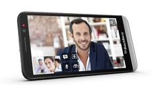 The BlackBerry Z30 comes with a five-inch display, which means it's about the same size as its competitor, the Samsung Galaxy S4. The company says the phone has a larger battery that will last for up to 25 hours. Other updates include the latest version of the10 BlackBerry 10 operating system. (The Canadian Press)