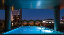 The rooftop pool at the Hotel Palomar Phoenix.