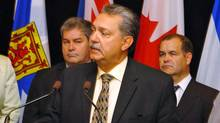 Former Alberta Health Minister (now speaker of the Alberta legislature) Gene Zwozdesky speaks with reporters Sept. 13, 2010 following a meeting of provincial and territorial health ministers in St. John's, N.L. (Gary Hebbard/The Canadian Press/Gary Hebbard/The Canadian Press)