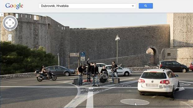 <p>An image of a band playing in the middle of an intersection caught on Google Street View.</p>