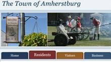 A screenshot shows part of Amherstburg, Ont.'s town website.