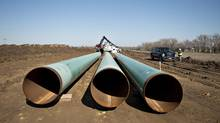 TransCanada Corp. shares fell after a media report said the company is in takeover talks to buy U.S. natural gas pipeline operator Columbia Pipeline Group (Daniel Acker/Bloomberg)
