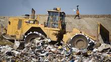 A City of Vancouver landfill in pictured in Delta, B.C., in 2011. A Metro Vancouver committee voted against a new recycling plan on Sept. 5, 2013. (John Lehmann/The Globe and Mail)