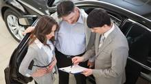 With new vehicles debuting in showrooms, dealers are often eager to clear out the end of the previous year's models. (iStockphoto)