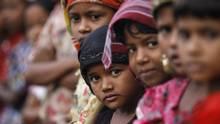 Rohingya Muslim children attend religious school at a refugee camp outside Sittwe, Myanmar, on May 21, 2015. (SOE ZEYA TUN/REUTERS)