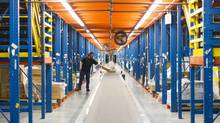 Best Buy's massive distribution centre in Brampton, Ont. One of the less obvious impacts of online shopping is the increasing need for mammoth warehouses. (Kevin Van Paassen/The Globe and Mail)