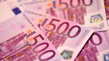 The €500 note might soon join the lira, deutschmark and franc on the European extinction list. (MIGUEL MEDINA/AFP/Getty Images)