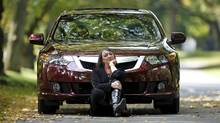 Barbara Budd and her Acura TSX (Moe Doiron/Moe Doiron/THE GLOBE AND MAIL)