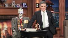 Geoff the Robot, from left, Craig Ferguson and Secretariat on THE LATE LATE SHOW with CRAIG FERGUSON, on the CBS Television Network. (Sonja Flemming)