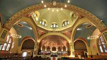 inside St. Anne's Church on Gladstone Avenue in Toronto, which is unique for its Byzantine-style dome and Group of Seven paintings featured throughout the church. (Deborah Baic/The Globe and Mail/Deborah Baic/The Globe and Mail)