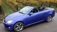 Lexus IS Convertible Anne-Marie Jackson/The Globe and Mail (Anne-Marie Jackson/Anne-Marie Jackson/THE GLOBE AND)