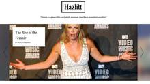 Screen grab from the home page of the online magazine Hazlitt