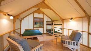 Cottage tents in Jasper National Park.