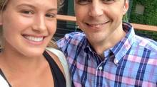 Eugenie Bouchard and Jim Parsons (Twitter)