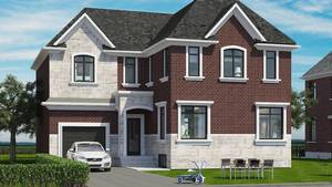 This concept shows the design by Ashley Reekie of Georgian Custom Renovations for the house after renovations.