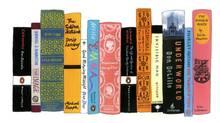 "Jennifer Egan's bookshelf from ""My Ideal Bookshelf,"" as illustrated by Jane Mount (Jane Mount)"